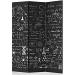 Paravent 3 Volets Science on Chalkboard 135x172cm - Paris Prix