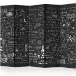 Paravent 5 Volets Science on Chalkboard 172x225cm - Paris Prix