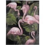 Paris Prix - Tableau Déco flamant Rose 90x120cm Multicolore