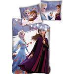 Parure de lit Anna et Elsa Frozen - Housse de Couette Réversible 140x200 cm + Taie d'oreiller 63x63 cm