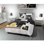 Parure de lit William 240x220 cm - Noir