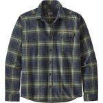 Chemises saison été Patagonia bleues éco-responsable à manches longues pour femme