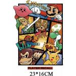 Patchs Super Mario Dessin Animé Pour Vêtements Pour Enfants, T Shirt Pour Enfants, À Faire Soi Même, À Repasser, Lettre À Transférer, Autocollants À Rayures Thermiques