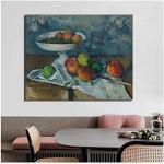 Paul Cezanne toile fruits affiches décor à la maison modulaire nature morte mur Art photos peinture post-impressionnisme HD imprimé chambre-50x70 cm sans cadre