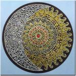 Peinture Au Diamant 5d, Broderie Mandala, Soleil, Décoration Murale Triptyque - Qz0407c38181