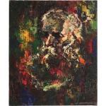 Peinture de portrait vintage Impressionniste Robert Falcucci Art Déco Wall Art