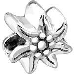 Perle Nenalina en forme d'edelweiss - En argent sterling 925 - Partiellement oxydée - Pour les bracelets à perles Pandora - 719127-000
