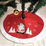 PICTURESQUE Décoration de Fête de Noël Jupe de Sapin Jupe d'arbre de Noël Couvre Pied de Sapin