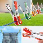 Pinces à linge X24 inox incassables révolution avec crochets clips de suspension