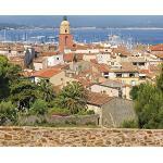 Plage 145104 Panoramique Intissé Mediterrannee 250cm X 250cm, Multicolore, 2,5x 2,5m