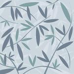 Plage 145109 Panoramique Intissé Bambou Azur 250cm X 250cm, Bleu, 2,5x 2,5m