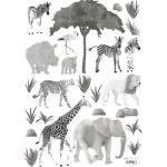 Planche de stickers A3 d'animaux sauvages Lilipinso