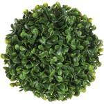 Plante Artificielle Boule de Buis 18cm Vert - Paris Prix