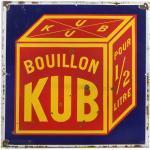 Plaque émaillée publicitaire Bouillon Kub