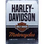 Plaque en métal Harley-Davidson Motorcycles. Dimension: 30x40 cm
