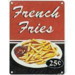 Plaque Metal 20x15cm French Fries Les Frites A La Francaise