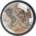 Meubles gris acier imprimé carte du monde enfant modernes