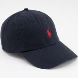 Polo Ralph Lauren - Casquette de baseball avec logo joueur de polo rouge - Noir