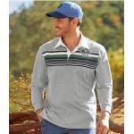 Vêtements de sport Atlas For Men gris lavable en machine à manches longues pour homme