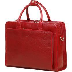 Porte ordinateur en cuir Katana Premium 14 pouces Rouge