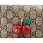 Portefeuille porte-cartes en toile Suprême GG avec cerises