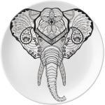 Portraits - Robots De Longues Dents Éléphant Animal Les Assiettes En Céramique 8 Pouces Les Décorations De Maison