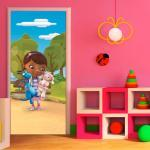 Poster Porte Docteur La Peluche Disney Intisse 90x202 Cm