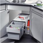 Poubelle tri des déchets coulissante 36L pour meuble d'évier