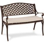 Pozzilli AN Set banc de jardin + coussins de siège cuivre & beige