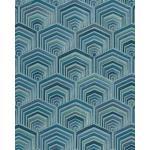 Profhome DE120047-DI Papier peint ethnique brillant turquoise menthe 5,33 m2