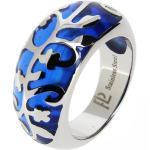 Promo : Bague en acier et résine bleue JB08A45