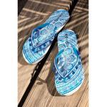 Chaussures saison été 3 Suisses Collection bleues à perles à motif mandala pour femme