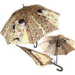 Promotion Parapluie Canne 'gustav Klimt' Marron Doré (Le Baiser) - 80 Cm