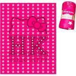 Promotion Plaid Polaire 'hello Kitty' Rose Fuschia - 125x160 Cm