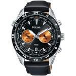 PULSAR Homme Chronographe Quartz Montre avec Bracelet en Cuir PY7015X1