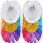 Chaussures multicolores à motif marguerites pour femme