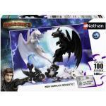 Puzzle 100 pièces - krokmou en famille / dragons 3
