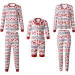 Pyjamas de Noel Famille Garçon Fille du Nouveau-né Bébé Pyjamas à Deux Pièces Set Sweat-Shirt à Manches Longues Top et Pantalon Sleepwear Ensemble Snowflake Vêtement de Nuit