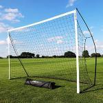 QUICKPLAY Kickster Objectif Amusant | Le But Initial du Kickster | Objectif de Football Portable pour le Jardin ou le Parc | Comprend Filet de Football et Sac de Transport [Objectif Unique] (2,4x1,5M)
