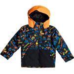 Vêtements Quiksilver Mission orange enfant imperméables respirants avec jupe pare-neige look fashion