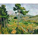 """Reproduction d'Art: Paul Cézanne """"La Montagne Sainte-Victoire, vue de Bellevue"""" 71 x 58"""