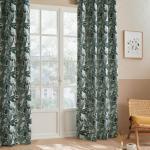 Rideau Bejuco à motifs jacquard, œillets, vert cèdre 140x260 cm DTE_2021 Unisexe