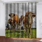 Rideaux à motif vaches occultants modernes