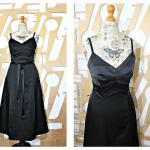 Vêtements de demoiselle d'honneur noirs Taille XS pour femme