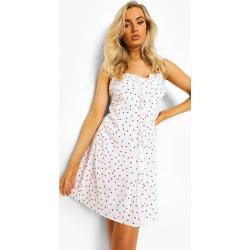 Robes trapèze Boohoo blanches midi look casual pour femme