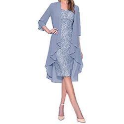 Robes de demoiselle d'honneur bleues à manches longues maxi à manches longues à épaules dénudées plus size look vintage pour femme