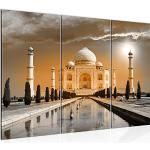 Runa Art Taj Mahal Inde Peinture Tableau Salon XXL Jaune Architecture Temple 120 x 80 cm 3 Parties Decoracion Murale 600531b