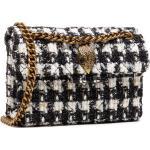 Sac à main KURT GEIGER - Tweed Mini Kensington 1802201609 Blk/White