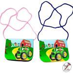 Sac À Seins Enfants Avec Nom/Tracteur Velcro Cordon Transparent Personnalisable