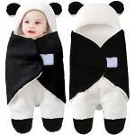 Sac de couchage pour nouveau-né en polaire chaude pour bébé de 0 à 12 mois Motif panda